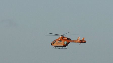 An air ambulance was called to Sheringham. Picture shows a generic air ambulance. Picture: Chris Bis