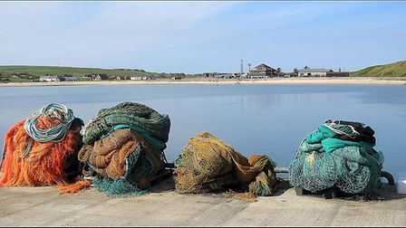 Piling the Nets by Jackie Ormandy, entered in the Novice section of the North Norfolk Photographic S