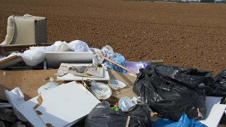 A council prosecuted a man who dumped waste, pictured, near Fakenham. Photo: North Norfolk District