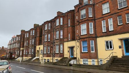 Clevedon House in Prince of Wales Road, Cromer, where residents have been told they have to give up