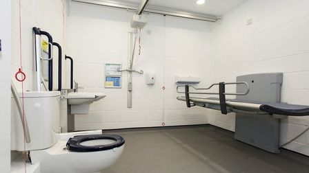 Inside Cromer''s new accessible toilet. Picture: Andy Langley and Closomat