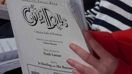 The script for Guys and Dolls at Sheringham Little Theatre. Picture: Richard Batson