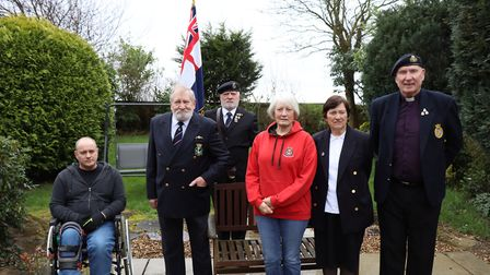 Members of the Cromer and district branch of the Royal British Legion, from left Martin Wood, chairm