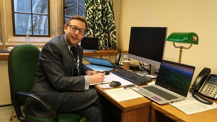 MP Duncan Baker at his office in the Palace of Westminster. Picture: Stuart Anderson
