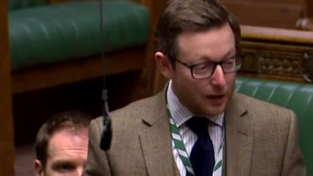 North Norfolk MP Duncan Baker in the House of Commons. Picture: Parliament TV