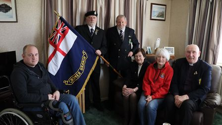 Members of the Cromer and district branch of the Royal Naval Association, from left Martin Wood, Bri