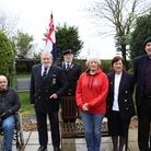 Members of the Cromer and district branch of the Royal Naval Association, from left Martin Wood, cha