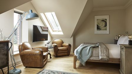 Inside one of the 'bigger' rooms at The Harper boutique hotel in Langham, north Norfolk. Picture: Su