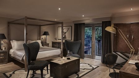Inside one of the 'biggest' rooms at The Harper boutique hotel in Langham, north Norfolk. Picture: S