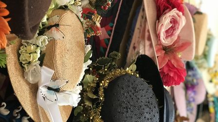 The collection of hats which will be worn for the Easter Sunday service at Aylsham church. Picture: