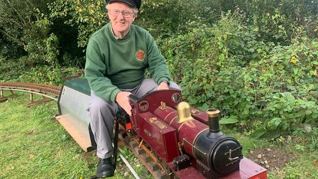 Gordon Ford, chairman of North Norfolk Model Engineering Club, which has now found a new site. Pictu