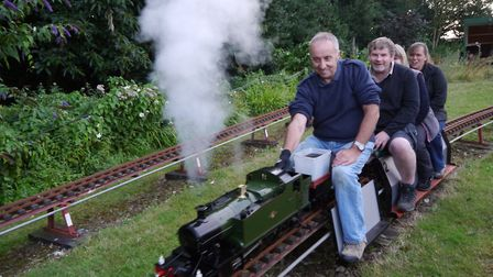 The North Norfolk Model Engineering Club has found a new venue. Driving the green Prairie tank 2-6-2