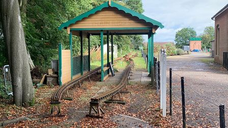 The part of the site at Holt Railway Station which was used by the North Norfolk Model Engineering C
