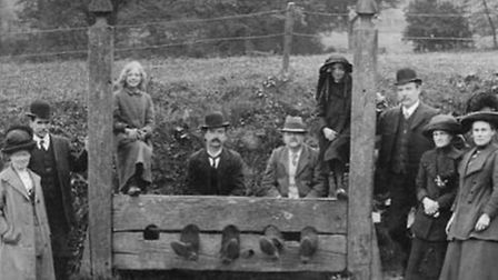 The stocks in older times, circa early 20C. Picture: supplied by Nigel Boldero