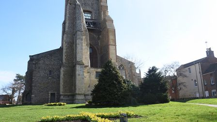St Nicholas Church with its ruined tower in North Walsham. Picture: DENISE BRADLEY