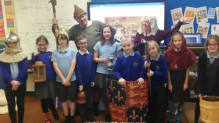 Preparations are under way for the Battle of North Walsham 1381 event. Pupils in Swanton Abbott get