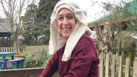 Preparations are under way for the Battle of North Walsham 1381 event. Picture shows Sarah Frost. Pi