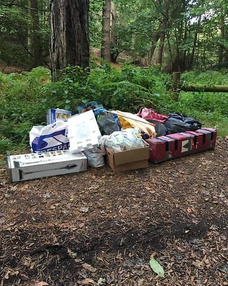Flytipping in Aylmerton last year, just a four minute drive away from Sheringham Recycling Centre. P