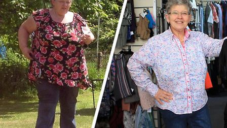 Cindy Farrow lost an incredible eight-and-a-half stone and dropped seven dress sizes. Picture: Suppl