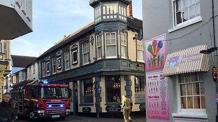 Firefighters were called to the Wellington pub in Cromer. Picture: Sophie Greenland
