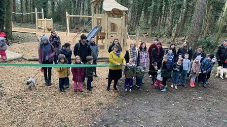 Opening of new play area at Holt Country Park. Picture: NNDC