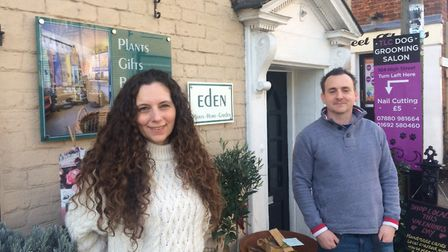 Tom and Kerry Unwin run Eden in Stalham High Street, which has nearly been open a year. Pictures: Da