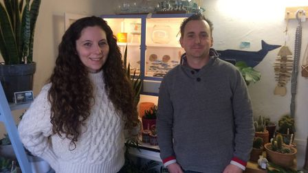 Tom and Kerry Unwin inside Eden in Stalham High Street. Pictures: David Bale