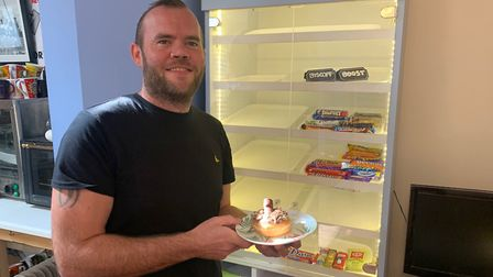 Karl Linturn, owner of Daddy Donuts, at his Stalham cafe. Picture: Stuart Anderson