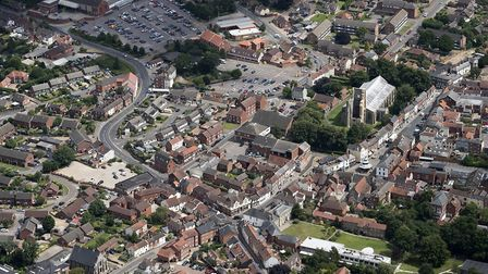 An aerial image of North Walsham, taken by John Fielding from his microlight aircraft. Picture: John