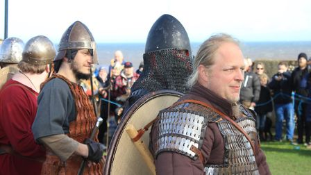 Sheringham Viking Festival, which got off to a successful start, in spite of wind and rain.Photo: KA