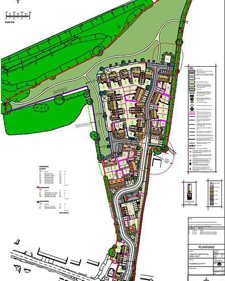 A plan of the proposed homes off Hempstead Road, Holt. Image: Hopkins Homes/Planning documents