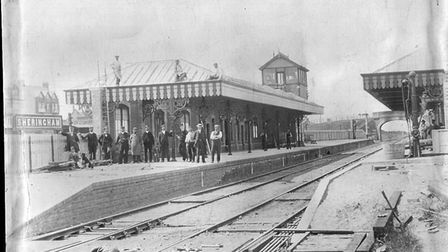Sheringham station as it appeared in 1897. It was part of the Midland and Great Northern Joint Railw