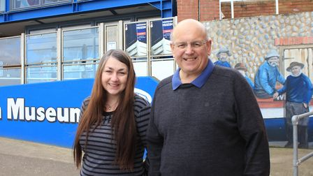 Sheringham Museum manager Lisa Little with the venue's chairman and co-founder Tim Groves. The seafr