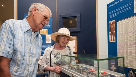 Visitors admiring the displays at Cromer's RNLI Henry Blogg Museum.Photo: RNLI