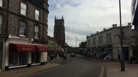 Shoppers were still in Cromer High Street on Saturday, March 14, despite coronavirus fears. Pictures