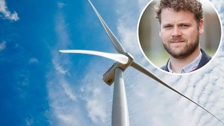 File photo of a wind turbine and inset, David Mack, who is behind one of the applications. Pictures: