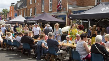 Street party at Holt Festival. Picture: Rodney Smith