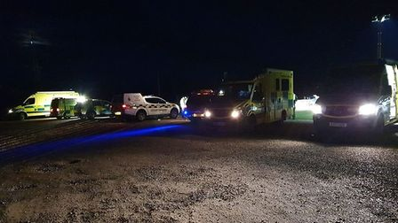 Hemsby Broads Rescue, East of England Ambulance Service and Hart were called to the rescue of a man