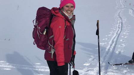 Alex Swift completed a two-day cross country skiing trek in Sweden for Walk the Walk breast cancer c