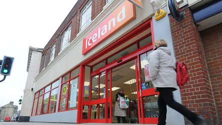 Iceland supermarket, Cromer, which is opening early on Wednesdays for the elderly and vulnerable. PH