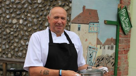 Sheringham cafe owner Royston Young, who has suffered a 60pc drop in trade since the coronavirus out