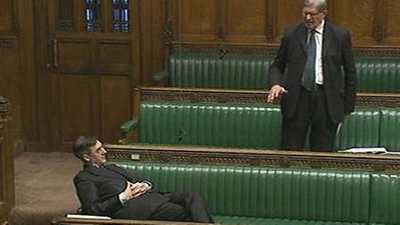 Rees-Mogg relaxes in the House of Commons