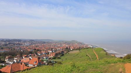 The view over Sheringham from Beeston Hill.Photo: KAREN BETHELL
