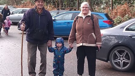 Pat and Brian Cottrell, of Holt,with the great-grandson Zac, who is 22 months old. Picture: Supplied