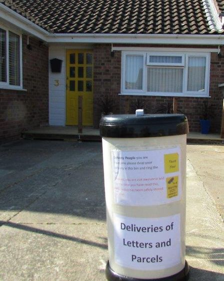 Bin on drive. Pictures: Terry Conquest
