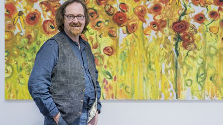 Artist Martin Kinnear is hosting a series of online painting sessions. Picture: Matthew Usher.