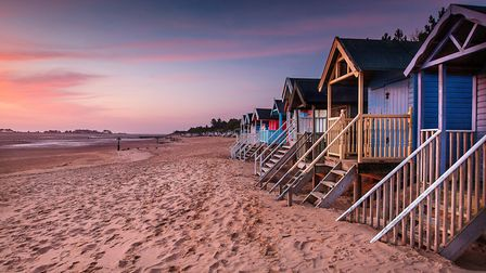 A view of the beach huts at Wells beach. Picture: Chris Taylor