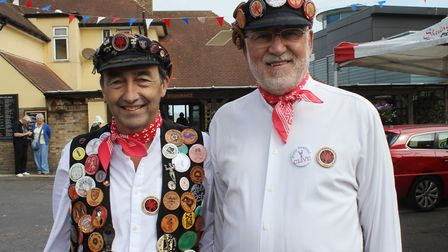 Sheringham Potty Morris and Folk Festival vice chairman Tony Chadwick (left) with fellow founder mem