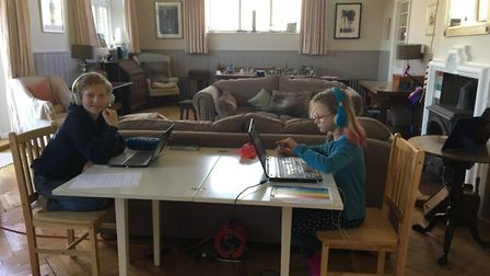 New digital school at Beeston Hall allows pupils to work from home. Pictures: Beeston Hall