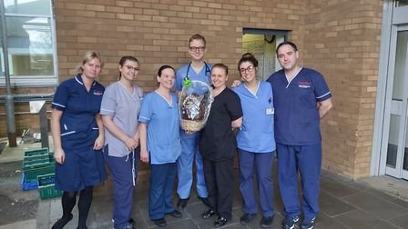 The hand-painted Easter egg donated to A&E staff at the Norfolk and Norwich University Hospital by S